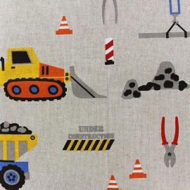 Tissu toile coton - Travaux x 27cm