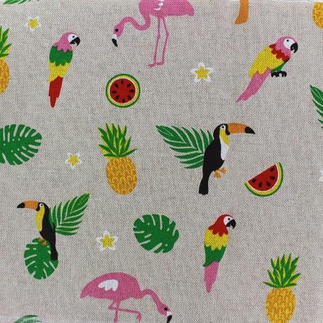 Cotton Canvas Fabric - Tropical x 20cm