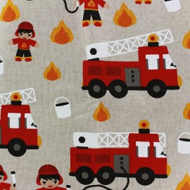Cotton Canvas Fabric - Fireman x 20cm