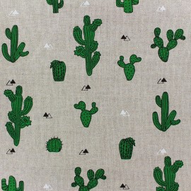 Cotton Canvas Fabric - Cactus x 31cm