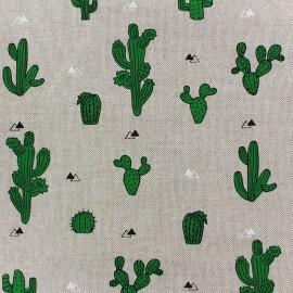Tissu toile coton - Cactus x 31cm