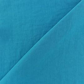 Tissu fluide effet soie lavée - bleu turquoise x 10 cm