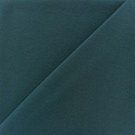 Tissu fluide effet soie lavée - bleu petrole x 10 cm
