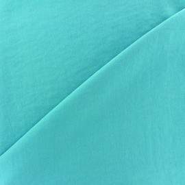 Imitation washed silk fluid fabric - aqua marine x 10cm