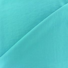 Tissu fluide effet soie lavée - aigue marine x 10 cm