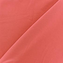 Tissu fluide effet soie lavée - corail clair x 10 cm