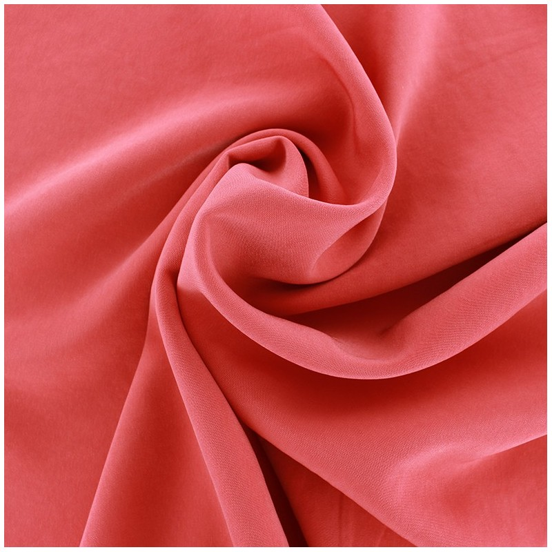Imitation Washed Silk Fluid Fabric Coral Light X 10cm