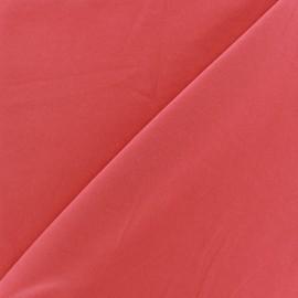 Tissu fluide effet soie lavée - Corail x 10 cm