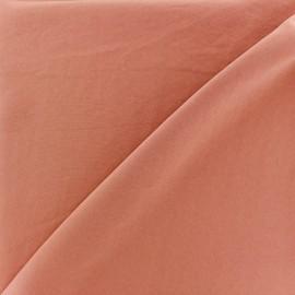 Tissu fluide effet soie lavée - terracotta x 10 cm