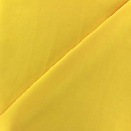 Tissu fluide effet soie lavée - jaune x 10 cm