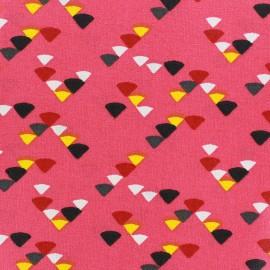 Tissu enduit coton Triangle multi - grenadine x 10cm