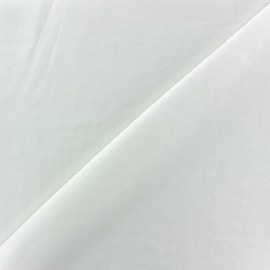 Imitation washed silk fluid fabric - white x 10cm