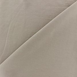 Tissu fluide effet soie lavée - beige foncé x 10 cm