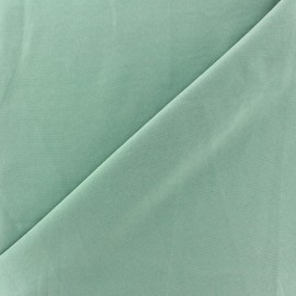 Imitation washed silk fluid fabric - green ocean x 10cm