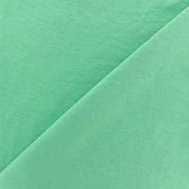 Tissu fluide effet soie lavée - vert d'eau x 10 cm