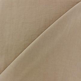 Tissu fluide effet soie lavée - beige x 10 cm