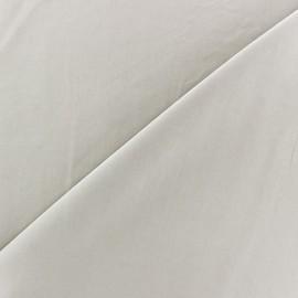 Tissu fluide effet soie lavée - beige clair x 10 cm
