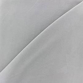 Tissu fluide effet soie lavée - gris x 10 cm