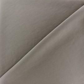 Tissu fluide effet soie lavée - taupe x 10 cm
