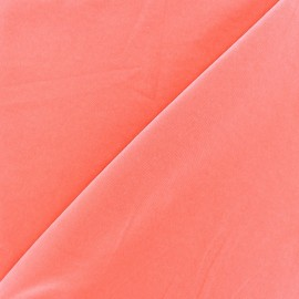 Tissu fluide effet soie lavée - pêche x 10 cm