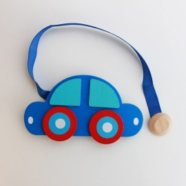 Wooden magnetic curtain tieback Kid - Car