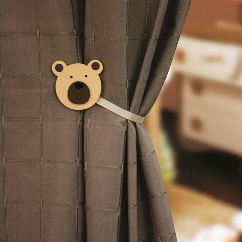 accessoire rideaux embrasse rideau magn tique bois kid teddy mpm. Black Bedroom Furniture Sets. Home Design Ideas