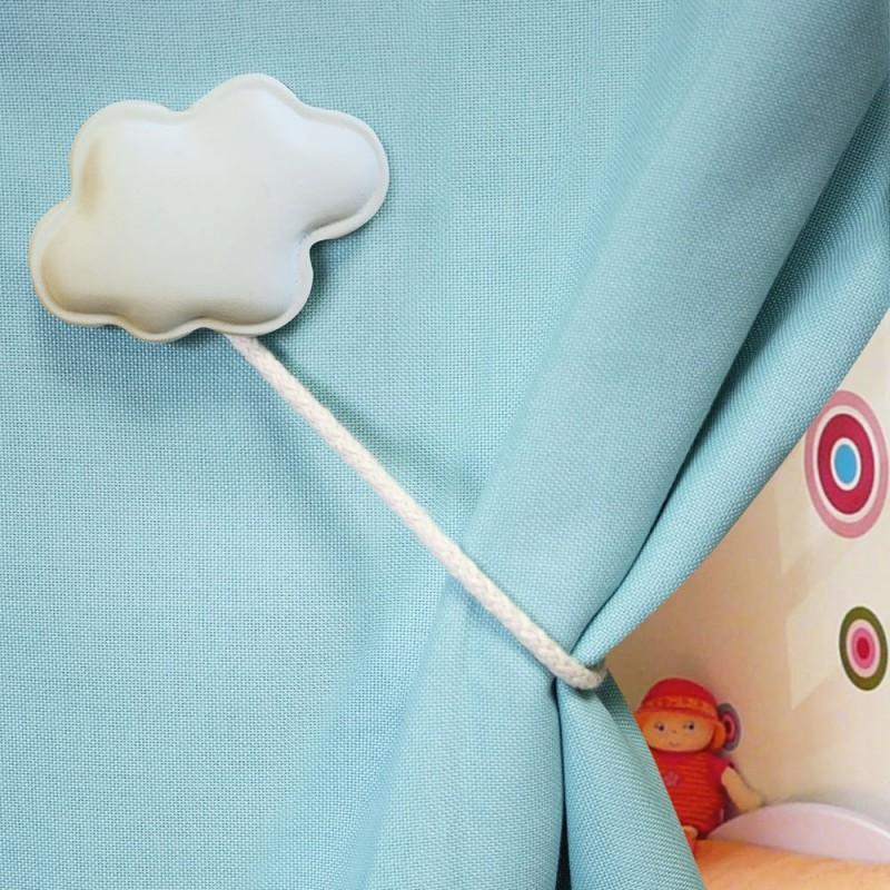 Accessoire rideaux: Embrasse rideau magnétique nuage rose clair - MPM