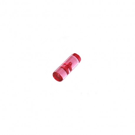 Small log button, transparent - fuchsia