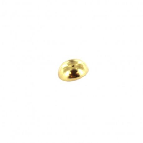 Bouton métal boule - doré