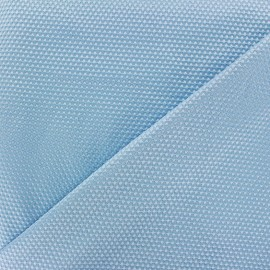 Satiny stitched cotton fabric - light blue x 10cm