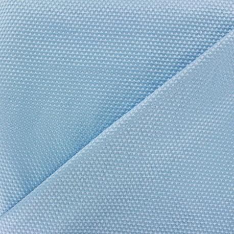 Tissu piqué de coton satiné - bleu clair x 10cm