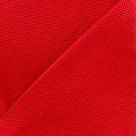 Satiny stitched cotton fabric - red x 10cm