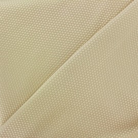 Satiny stitched cotton fabric - beige light x 10cm