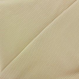 Tissu piqué de coton satiné - beige clair x 10cm
