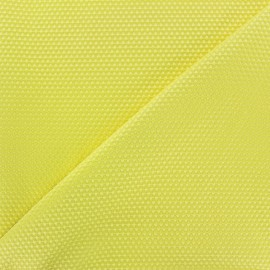 Satiny stitched cotton fabric - yellow x 10cm