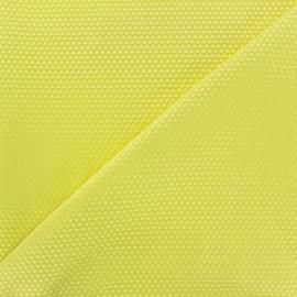 Tissu piqué de coton satiné - jaune x 10cm