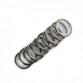 Metallic ring rod (x10) - dark silver