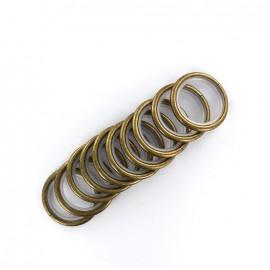 Lot de 10 anneaux tringle métal - bronze