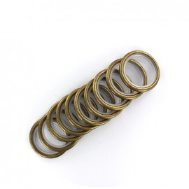 Metallic ring rod (x10) - bronze