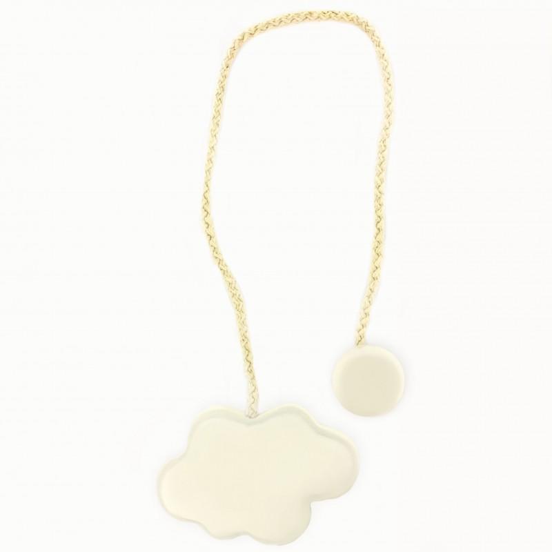 Accessoire rideaux: Embrasse rideau magnétique nuage crème - MPM