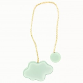 Wooden magnetic curtain tieback Cloud - Light Blue