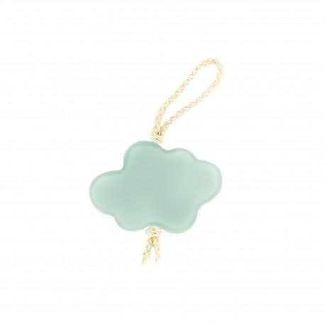 Pompom curtain tieback Cloud - Blue light