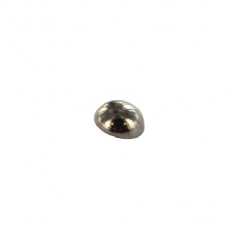 Bouton métal boule - étain