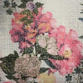 Tissu Tweed Chanel Blossom - écru x 10cm