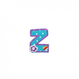 Embroidered iron-on patch Kids letters - Z