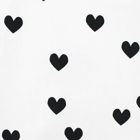 Tissu Popeline - Lov U x 10cm