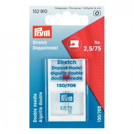 Double machine needle for stretch fabrics n° 2,5/75 PRYM