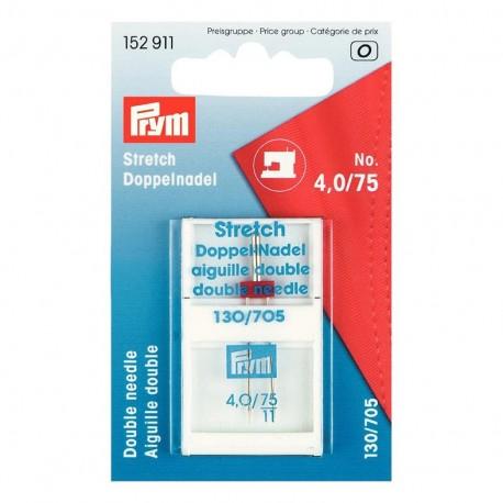 Double machine needle for stretch fabrics n° 4,0/75 PRYM