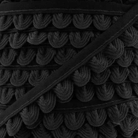 Braid ribbon Pétales - black x 1m