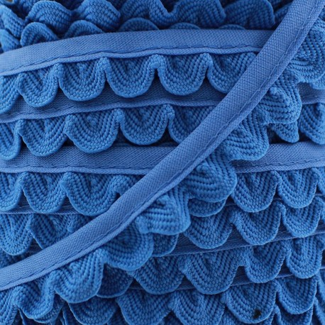 Braid ribbon Pétales - cornflower x 1m
